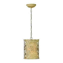 Fredrick Ramond - Fredrick Ramond FR44627BCH Carabel Mini Pendant - French Country Mini Pendant in Brushed Champagne from the Carabel Collection by Fredrick Ramond.