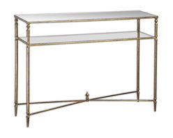 Uttermost - Henzler Mirrored Glass Console Table - Reflective surfaces add texture and drama to your space. They play off your rugs, furniture and wall hangings. This console table can lighten your room both literally and figuratively. Try it in an entryway underneath a large mirror to brighten and add an element of surprise.