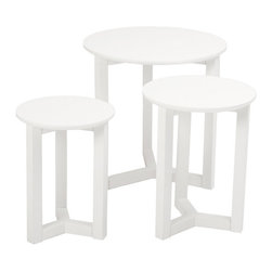 Eurostyle - Eurostyle Nicolo Nesting Tables in Matte White Lacquer - Nesting Tables in Matte White Lacquer belongs to Nicolo Collection by Eurostyle Give your home new flair with this set of nesting tables. This set includes three side tables that are durable and easy to clean. Nesting Table (3)