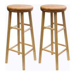 Winsome Wood - Winsome Wood Set of 2 - Swivel 30 Inch Stool in Beech - An old classic with a new twist. The 30 inch Swivel Bar Stool is perfect for any area of the home. The seat swivels for optimum comfort and accessibility. Barstool (2)