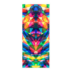 "Kess InHouse - Danny Ivan ""Day We Met"" Rainbow Geometric Metal Luxe Panel (9"" x 21"") - Our luxe KESS InHouse art panels are the perfect addition to your super fab living room, dining room, bedroom or bathroom. Heck, we have customers that have them in their sunrooms. These items are the art equivalent to flat screens. They offer a bright splash of color in a sleek and elegant way. They are available in square and rectangle sizes. Comes with a shadow mount for an even sleeker finish. By infusing the dyes of the artwork directly onto specially coated metal panels, the artwork is extremely durable and will showcase the exceptional detail. Use them together to make large art installations or showcase them individually. Our KESS InHouse Art Panels will jump off your walls. We can't wait to see what our interior design savvy clients will come up with next."