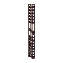 1 Column Display Row Cellar Kit in Pine with Burgundy Stain + Satin Finish - Make your best vintage the focal point of your wine cellar. High-reveal display rows create a more intimate setting for avid collectors' wine cellars. Our wine cellar kits are constructed to industry-leading standards. You'll be satisfied. We guarantee it.