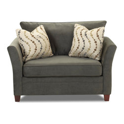 Savvy - Murano Chair Sleeper Sofa in Belsire Pewter - Murano Chair Sleeper Sofa in Belsire Pewter