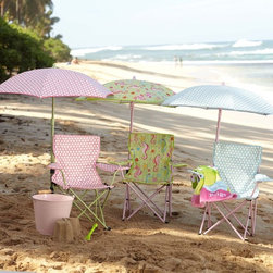 Freeport On-The-Go Folding Chair and Umbrella - Little ones love seats that are just their size. These are not only darling, but also practical and great for shading kids from the strong sun.