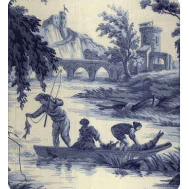 Grand Toile Fabric - There is something so lovely and classic about toile prints. I can see this as drapery around a four-poster bed.