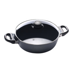 Swiss Diamond - Swiss Diamond Nonstick 2.3-Quart Casserole Pot with Lid - What's for dinner? Answer the age old question with a warm and hearty casserole prepared in this attractive — and versatile — nonstick pot. From the oven to the table, it'll dish up meals your family will love.