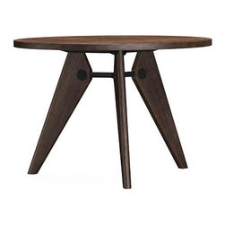 Vitra - Vitra Gueridon Table - Dark - The Gu_ridon wooden table- which was produced by the designer and engineer Jean Prouv_ for the University of Paris- is a convincing demonstration of clear structural principles. It is a variation of Prouv_'s architecturally informed design vocabulary in a natural material- proving that modern tables do not have to be made out of steel and glass.