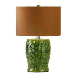 Cyan Design - Cyan Design Scroll Table Lamp in Green - Scroll Table Lamp in Green