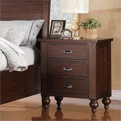 Riverside Furniture - Riverside Furniture Castlewood 3-Drawer Nightstand in Warm Tobacco - Riverside Furniture - Nightstands - 33568