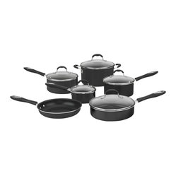Cuisinart - Cuisinart Advantage Non-Stick Hard Aluminum 11-Piece Cookware Set - Aluminum heats quickly and cooks at an even temperature, eliminating hot spots