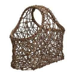 Tilob Vine Magazine Basket - I love the open look of this woven vine magazine rack. It's also handmade in the Philippines and supports social development. A great combo.
