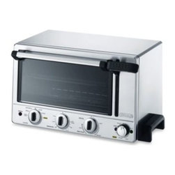 Delonghi - De'Longhi Panini Toaster Oven - This panini toaster oven is also a multi-functional oven with Bake, Broil, Toast, Slow Bake, Panini and Keep Warm settings. A nonstick grill plate is heated by the bottom heating element to sear panini sandwiches, fish, meat and vegetables.