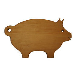 Shark Shade / Martin Carts - Pig Cutting Board - Made From Rock Hard Maple Planks