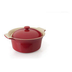 "Berghoff - Berghoff Geminis Round Covered Baking Dish 12"" x 10"" x 6.25"" - The Geminis bakeware collection is not only pleasing to look at but durable enough for every day use. Made from high quality stoneware with a cozy red colour this bakeware can go right from oven to the table. Handles provide a comfortable thumb grip for securely and safely moving dishes from the oven to the table or countertop."