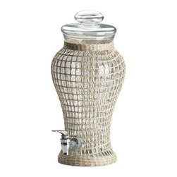 Global Amici - Global Amici Calypso Beverage Dispenser Multicolor - 7VA181R - Shop for Beverage Dispensers and Servers from Hayneedle.com! If you ve scheduled oodles of dinner parties and barbeques this summer be sure to invite the Global Amici Calypso Beverage Dispenser too. Its lovely vase-like shape is made in Vietnam of mouth-blown handmade recycled glass and it s wrapped in a hand-woven seagrass cover that adds a tropical touch to your buffet. Plus the plastic spigot has a smooth controlled pour so serving that iced tea has never been easier. Hand wash. Indoor or outdoor use.About Global Amici Inc.Global Amici was established in 1982 on the sole principle of providing outstanding houseware products to its customers at a reasonable price. Each product focuses on design functionality and beauty. No matter what the occasion Global Amici offers products that showcase style that can help transform ordinary food and everyday dining into a special presentation not to be forgotten.