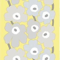 Marimekko Unikko Yellow Grey Fabric - Marimekko Fabric Sale