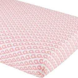 Mosaic Paisley Crib Fitted Sheet (Pink Diamond) -