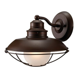 Hardware House - Electrical - 10-2797 1-Light Classic Brown Wall Light - Barnyard Series Down Light Fixture