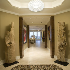 Contemporary Hall by Amanda Webster Design