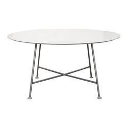 Capellini Pan Table - Keeping it simple with this table. Smooth lines, paired down style, and clean white lacquered top. Would love to see it added to a rustic kitchen, with pops of modern convenience.