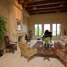 Mediterranean Living Room by Gander Builders