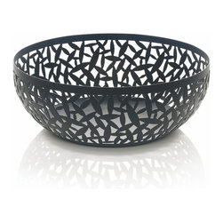 "Alessi - Alessi ""Cactus!"" Matte Black Fruit Holder, Black, Large - Fruit bowl in steel coloured with epoxy resin, black."