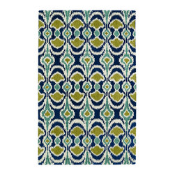 Kaleen - Kaleen Global Inspirations Collection GLB03-17 2' x 3' Blue - The Global Inspirations collection brings you beautiful motifs influenced by d_cor from all over the world. You no longer need to wander the streets of Europe or Asia looking for that hidden gem, our Global Inspirations collection found it for you!  Each rug is hand-tufted in India from 100% of the very finest wool, to achieve today's hottest worldly designs and patterns.