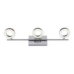 Alternating Current - Alternating Current AC1163 Halo 3-Light Bathroom Vanity Lights - This 3-Light Vanity from the Halo collection by Alternating Current will enhance your home with a perfect mix of form and function. The features include a Polished Chrome finish applied by experts. This item qualifies for free shipping!