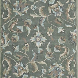 Safavieh - Safavieh Jardin JAR461A 5' x 8' Grey Rug - Safavieh's Jardin rug is made in India using the latest colors mated to the latest designs we are known for. Hand-tufted for superior texture and detail.