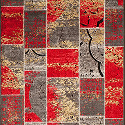 "Momeni Rug - Momeni Rug Vogue 1'8"" x 2'7"" VG-01 Red VOGUEVG-01RED1827 - The Vogue Collection features modern interpretations of classic designs, presented in rich jewel tones for sophisticated elegance. A gorgeous addition to any home, each rug is made in Turkey from a soft viscose for luscious sheen and splendid texture. A vibrant addition to contemporary living, the Vogue Collection is sure to become a fast favorite."