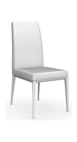 Calligaris - Bess Leather Chair, Matt Optic White Frame, Optic White, Set of 2 - With its sleek, sophisticated lines, this Italian-made leather chair has no trouble fitting in. You can use it around your dining table, in your office or as extra seating when unexpected guests arrive.