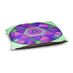 DiaNoche Designs - Dog Pet Bed Fleece - Mandala II C - The comfort of your pet is of the utmost importance. But shouldn't their furniture match yours? DiaNoche Designs gives your pet some clout with our stable of international artists designs on their new bed.