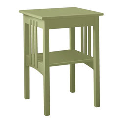 Classic Maine Cottage End Table - Although marketed as a side table, this piece is a perfect nightstand for a cottage. There's an extra surface for your books and magazines, and plenty of room on top for your lamp, funky clock, and that little china bowl for your jewelry. Oh, and a bud vase with a rugosa in it. That's how you do it at a cottage.