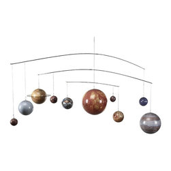 Authentic Models - Authentic Models Solar System Mobile - GL061 - Shop for Mobiles from Hayneedle.com! Invite the solar system into your home with the Authentic Models Solar System Mobile. This beautiful replica of our planets would be a great accessory in a child's room or a unique art piece in your study. Astronauts stargazers and science fiction fans will enjoy this mobile which features the planets in relative size to each other (although not officially to scale) and all decked out in rich colors. The framework is so thin as to be almost invisible making the planets appear to actually be suspended in space as they journey along their elliptical orbits around the sun. About Authentic ModelsAuthentic Models strives to create and distribute a comprehensive collection of historic and fine art reproductions worldwide. Haring Piebenga founded the company in 1968 and today AM is a European wholesale manufacturer with warehouses and corporate offices in Oregon and Amsterdam. AM pursues original items at auction and uses these models for their design ideas. Each hand-made item appeals to the human need for nostalgia intrigue and beauty by evoking a story from the past. High-quality construction using only the finest materials ensures that these charming pieces will become treasured heirlooms in their own right.