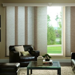 Bali - Bali Sliding Panels: Rafia - Bali Sliding Panels offer a modern alternative to standard window treatments that's perfect for patio doors, wide windows or as a room divider.  This collection is made of light filtering fabrics.