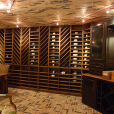 Traditional Wine Cellar by Stadler Custom Homes