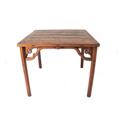 "Antique Chinese Square Table (34""H) - Michele @ MIX Vintage"