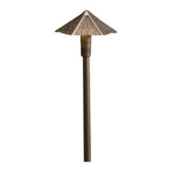 Kichler - Kichler 15401AZT Thatched Roof 20W Low Voltage Path & Spread Light - Single Light Outdoor Path Light from the Thatched Roof CollectionThe casual style indicative of island life is reproduced in this cast aluminum lighting fixture