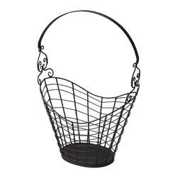 "Butler Specialty - Butler Darby Iron Wire Basket - Butler Darby Iron Wire Basket Iron 19""W x 12""D x 28.5""H"
