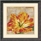Amanti Art - Fabric Floral Two Framed Print by Dysart - With nature-inspired imagery in rich, colorful hues, this fine art print will infuse your home with an earthy beauty. An excellent wall art accent for the lover of art with flowers.
