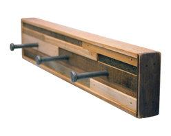 Six Finger Studios - 3 Hook Coat Rack Recycled Wood (Kubala Style), 3 Hook - 3 Hook Coat Rack Recycled Wood (Made to Order)