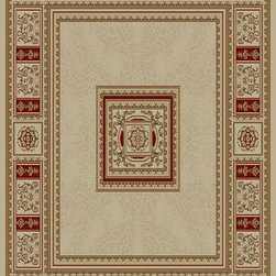 Ottomanson - Beige Traditional European Design Rug - Royal Collection offers a wide variety of machine made modern and oriental design area rugs with durable, stain-resistant pile in trendy colors.