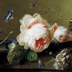 Still Life with Flowers and Butterfly, c.1735 | Huysum | Canvas Print - Condition: Canvas Print - Unframed