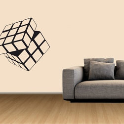 StickONmania - Rubik's Cube Sticker - A cool  Cube for your wall. Decorate your home with original vinyl decals made to order in our shop located in the USA. We only use the best equipment and materials to guarantee the everlasting quality of each vinyl sticker. Our original wall art design stickers are easy to apply on most flat surfaces, including slightly textured walls, windows, mirrors, or any smooth surface. Some wall decals may come in multiple pieces due to the size of the design, different sizes of most of our vinyl stickers are available, please message us for a quote. Interior wall decor stickers come with a MATTE finish that is easier to remove from painted surfaces but Exterior stickers for cars,  bathrooms and refrigerators come with a stickier GLOSSY finish that can also be used for exterior purposes. We DO NOT recommend using glossy finish stickers on walls. All of our Vinyl wall decals are removable but not re-positionable, simply peel and stick, no glue or chemicals needed. Our decals always come with instructions and if you order from Houzz we will always add a small thank you gift.
