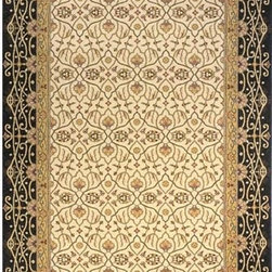 Momeni - Persian Garden Charcoal Rectangular: 5 Ft. x 8 Ft. Rug - Persian-inspired patterns in 100% New Zealand wool with hand-serged finishing. Momeni - PERGAPG-09CHR5080