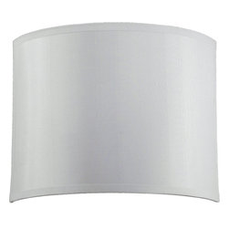Quorum Lighting - Quorum Lighting Cirrus Transitional Wall Sconce X-56-85 - From the Cirrus Collection, this Quorum Lighting wall sconce is clean and simple, ensuring it will compliment your home whether it's decorated in a traditional or contemporary fashion. For added appeal, this white wall sconce is constructed of a white silk and features a clean Satin Nickel finish where appropriate.