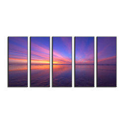 Vibrant Canvas Prints - Photo Canvas Prints, Framed 3 Panel Mountain Forest Tree Nature  Wall Picture - This is a beautiful, 100% quality cotton canvas print. This print is perfect for any home or office, and will make any room shine with its addition of color and beauty.  - Free Shipping - Modern Home and Office Interior Decor   Beach Canvas Designs - 5 Panel Print   Sunset Sea Beach Print on Canvas - Wall Art - 30 Day Money Back Guarantee.