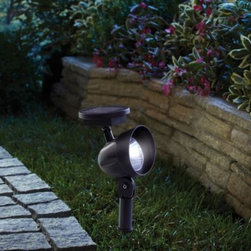 Coleman Cable, Inc/import Division - Patio LED Solar Spotlight - Cast some bright light about your garden or walkway with this solar-powered spotlight. Features strong, long-lasting LED lights that are charged during the day to produce up to 6 hours of illumination at night.