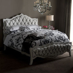 """Monique"" Bed & ""Monochromatic"" Nightstand"