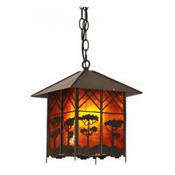 ParrotUncle - Rustic Lantern Shaped Hanging Lamp - Rustic Lantern Shaped Hanging Lamp